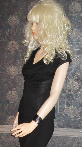 Victoria's Secret Short Sleeve Sexy Black Draped Neckline Top Small  240703