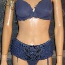 Victoria's Secret $100 Purple Dream Angels 36C Bra Garter Panty Set 216025 245055