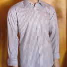 Haspel $85 Best Qualtiy Striped No Iron Mens Cotton Dress Shirt 16 1/2 Large 4831