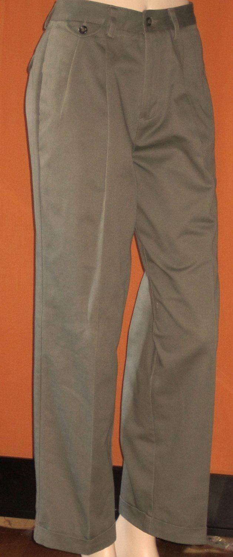 Dockers Premium Cuffed Beige Khaki Pants 32 x 30 21937