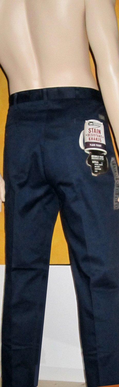 Lee Performance Khakis $56 Plain Front Stain Resistant Blue Pants 38 x 30  41824