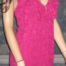 Victoria's Secret $80 Lace Ruffled Raspberry Pink Halter Dress Small Petite  279295