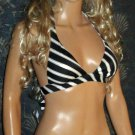 NWT Victoria's Secret Black & Gold Bandeau Push-Up Bikini XS Medium  294012