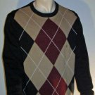 NWT Men's Saddlebred by Belk $60 Cotton Crewneck Argyle Sweater Large 73640