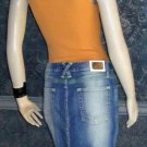 NWT baby phat logo $62 Citrus Destruction Denim Jeans Skirt 11 KH9960