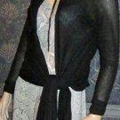 Victoria's Secret $60 Black Cotton Multiway Cardigan Sweater XS 279457
