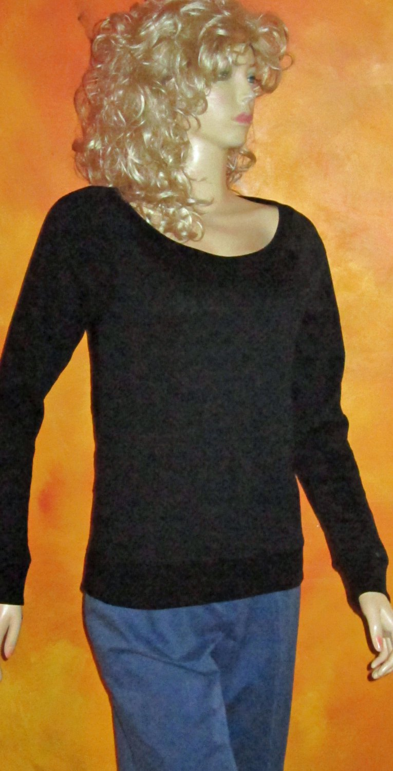 Victoria's Secret Sexy Back Black Long Sleeve Top Small  288662