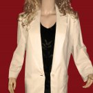 Rafaella $199 White Linen Blazer Jacket 14  816209