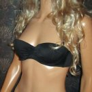 Victoria's Secret $78 Black Bandeau Push-Up Bikini 34A Small  277658