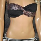 Victoria's Secret $116 Embellished Rio Black & White Sequin Bikini 36B Large 290028 265072