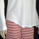 Victoria's Secret $75 Red Gold White Pajama Set Large  291097