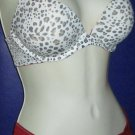 Victoria's Secret $72 Animal Print Red Trim Push-Up 32D Bra Panty Set 241868