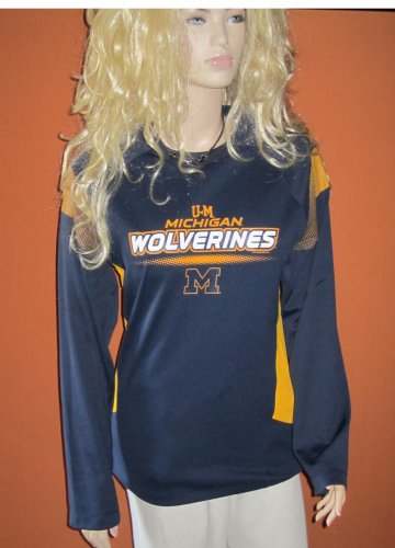 Majestic Unisex University of Michigan Wolverines Long Sleeve Jersey Top Small 15526