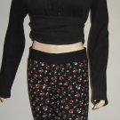 Victoria's Secret Black Floral Lounge Pajama Pant Small 288261