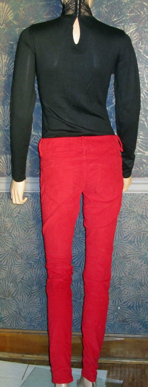Victoria's Secret $70 Red Siren Low Rise Corduroy Jeans 0  272003
