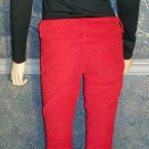 Victoria's Secret $70 Red Siren Low Rise Corduroy Jeans 0  272003