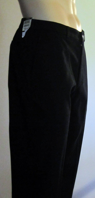 NWT Haggar $68 Men's Flat Front Black Pants 34 x 29 263434