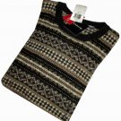 NWT Arrow Checked Brown & Beige Crew Neck Sweater Size XL  400218