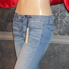 NWT Victoria's Secret $70 Blue Denim Kitten Destruction Jeans 4 289988