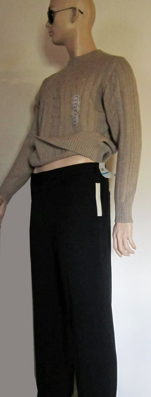 NWT Perry Ellis Portfolio $70 Black Flat Front Dress Pants 36 x 30 PE7783