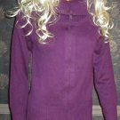 Victoria's Secret $58 Long Zip Front Cotton Purple Cardigan Sweater Small 186564