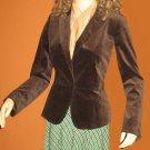 DKNY $298 Chocolate Velveteen Blazer Size 6 717011