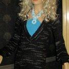Victoria's Secret Black & Grey V Neck Tunic Sweater XS Small  200949