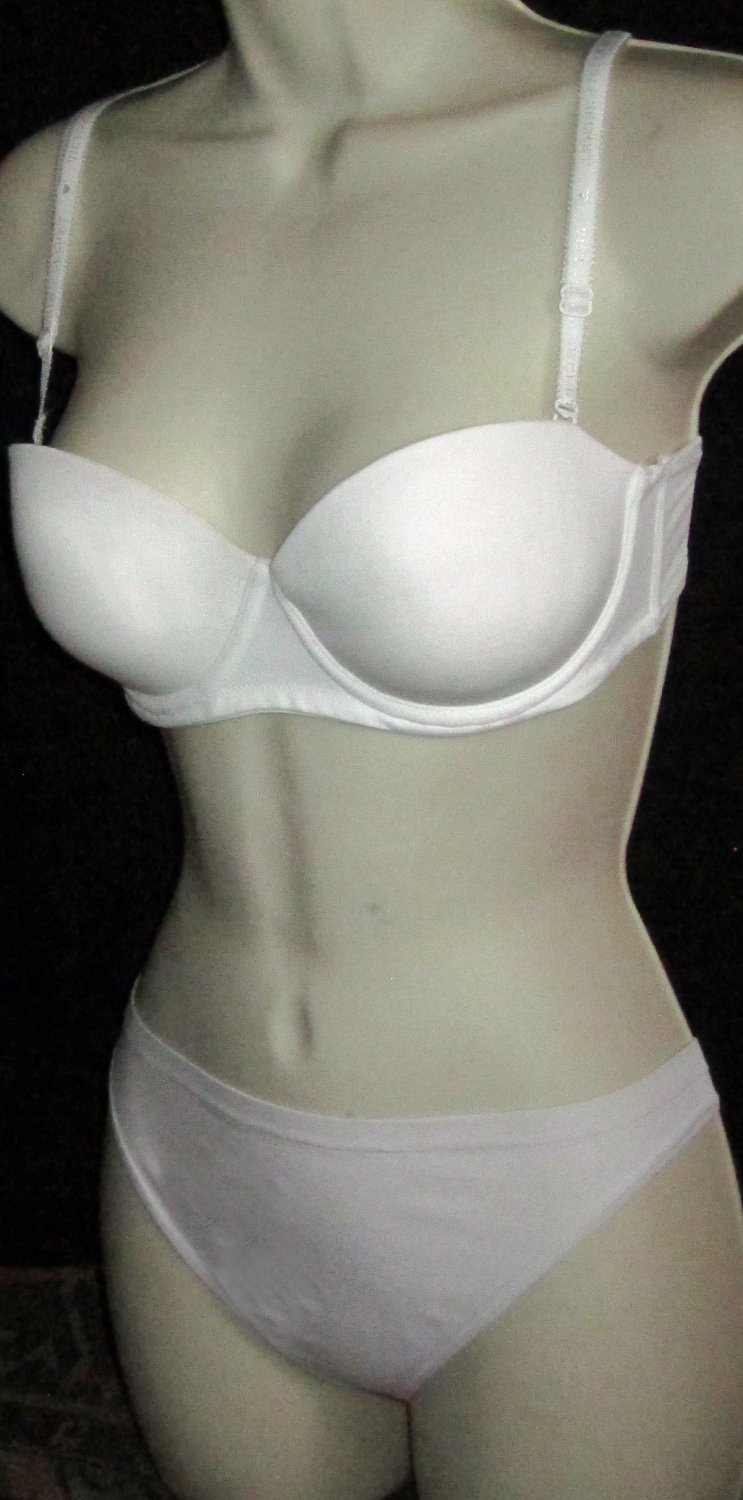 Victoria's Secret $35 Signature Multiway Push-Up White 32C Bra 270674