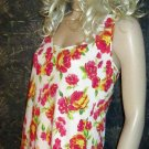 Victoria's Secret $42 Sleeveless Long White Floral Tunic Top Medium 298285