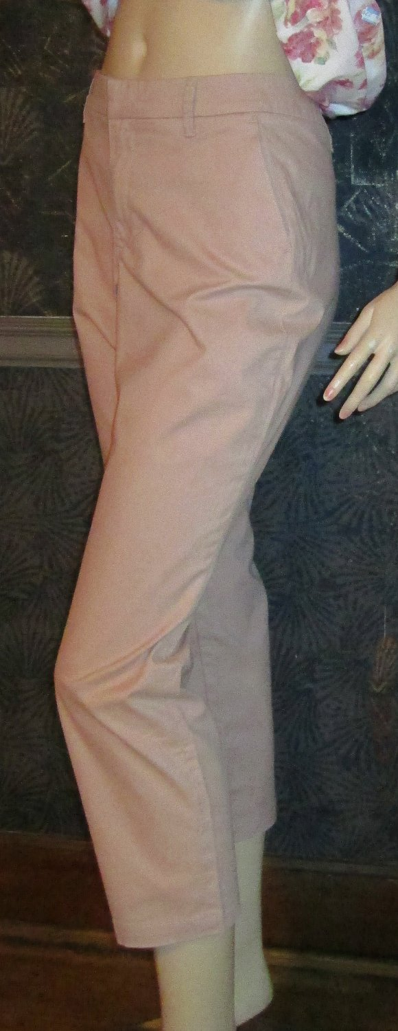 Victoria's Secret Amaretto Beige Chino Cropped Pants Size 14 296540 296450