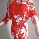 Victoria's Secret Orange & White 3/4 Sleeve Cross Back Dress XL  296322