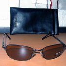 Kenneth Cole Black Metal Sunglasses With Soft Black Monogrammed Case 011505