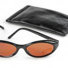 Kenneth Cole Black Cats Eye Sunglasses With Soft Black Monogrammed Case 010905