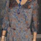 Victoria's Secret $99 Blue Snake Shirt Dress Medium 286114