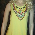 Victoria's Secret $78 Embellished Beaded Yellow Citrus Tank Top XL  297730