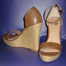 NIB Victoria's Secret $48 Chestnut Brown Platform Espadrille Sandals 7  276925