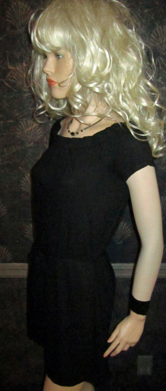 Victoria's Secret $48 Lightweight Cap Sleeve Black Mini Tee Dress XS 239301