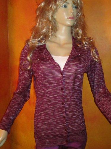NWT Ann Taylor $65 Purple Cardigan Sweater Top Medium 809429