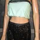 Victoria's Secret $148 Black Sequin Pencil Skirt 2 290545