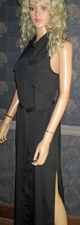 Victoria's Secret $98  Maxi Sleeveless Long Black Dress Size Small 296763