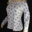 Victoria's Secret $58 Long Sleeve Gray & Black Top XL 303382