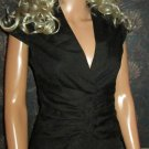 Victoria's Secret Cap Sleeve Black Corset Shirt Blouse Size 2 272568