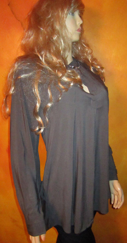 Victoria's Secret $68 Long Grey Tunic Blouse Shirt Small Medium 302298