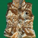 Macy's Girls Quilted Gold Puffer Vest 6-9 Months 616029