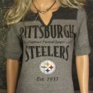 NWT NFL Team Apparel Pittsburgh Steelers Gray Top Small Medium 718268