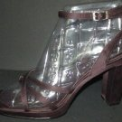 Reaction Kenneth Cole Strappy High Heel Ankle Strap Sandals Burgundy/Brownish  6 1/2.