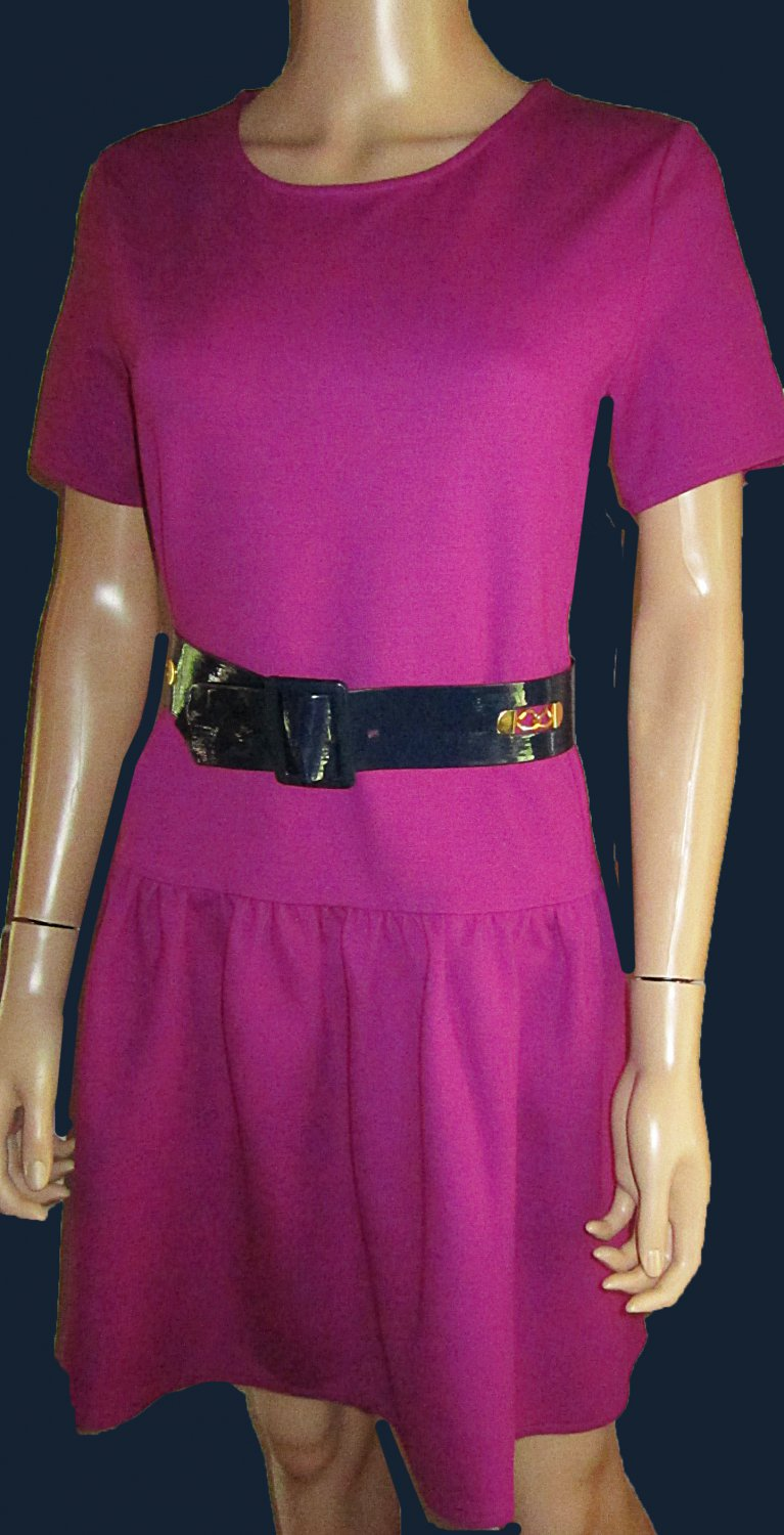 Victoria's Secret $88 Short Sleeve Purple Ponte Fit & Flare Dress Size Medium  302280