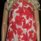 Victoria's Secret $158 Red Floral Silk Halter Mini Dress Size XS  300751