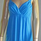 Victoria's Secret $48 Blue Mesh Babydoll Sleeveless Top Size Medium 273840