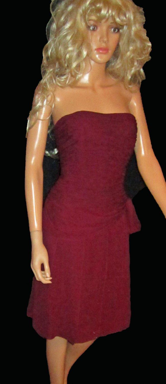NWT Anne Klein $249 Purple Strapless Silk Cocktail Dress 12  713560